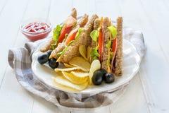 Świetlicowe kanapki Zdjęcie Stock