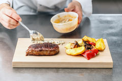 Świetlicowy wołowina stek Obraz Royalty Free