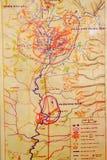 Wietnam żołnierza stara mapa Zdjęcie Royalty Free