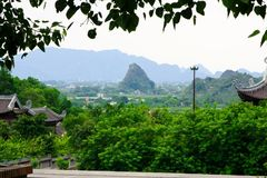 Wietnam architektury budynku piękny budynek widzii widoku punkt Fotografia Stock