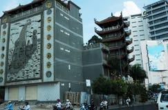 Wietnam: Chińska ambasada w mieście, Saigon Ho Chi Ming/ zdjęcie stock