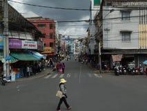 Wietnam, Dalat miasto ulicy Fotografia Stock