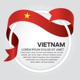 Wietnam flaga tło royalty ilustracja
