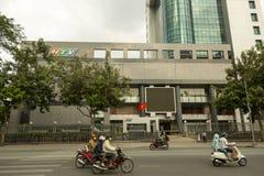 Wietnam HTV telewizja lokuje w Ho Chi Minh mieście zdjęcia royalty free