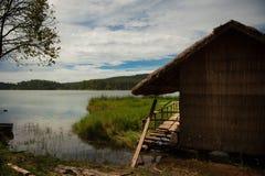 Wietnam, jezioro, wioska, wioski życie, lokalny życie Zdjęcie Stock