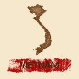 Wietnam martwił mapę Fotografia Royalty Free