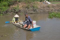 Wietnam, Mekong delta spławowy rynek Zdjęcia Royalty Free