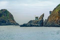 Wietnam miasto Nyachang, Czerwiec - 17, 2013: chiny południowi morze skuner zbliżał się hazard Zdjęcia Stock