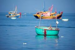 Wietnam, Muine, wioska rybacka, 27 może 2018 - tradycyjny Vietnam Obrazy Stock