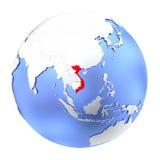 Wietnam na kruszcowej kuli ziemskiej odizolowywającej royalty ilustracja