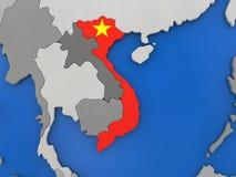 Wietnam na kuli ziemskiej ilustracja wektor