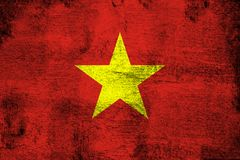Wietnam ośniedziały i grunge chorągwiana ilustracja royalty ilustracja