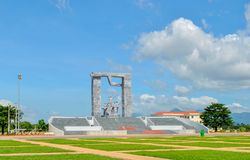 Wietnam, Phanrang: Militarny pomnik ku pamięci nieboszczyka fotografia royalty free