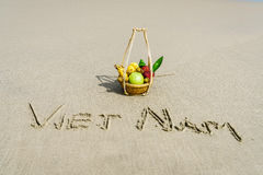 Wietnam pisać na piasku Obrazy Stock