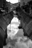 Wietnam, rzeka, Dalat, czarny i biały Obraz Royalty Free