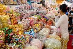 Wietnam, Saigon, Ho Chi Minh - rynek - Zdjęcia Royalty Free