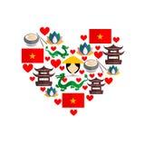 Wietnam set royalty ilustracja