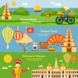 Wietnam sztandaru set ilustracja wektor