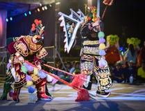 Wietnam tana przedstawienia maski zawody międzynarodowi festiwal Zdjęcie Stock