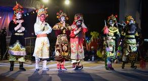 Wietnam tana przedstawienia maski zawody międzynarodowi festiwal Obrazy Stock