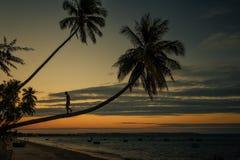 Wietnam zmierzchu plaża Zdjęcia Royalty Free