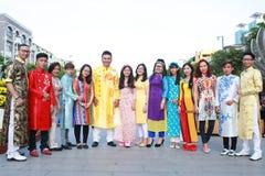 Wietnamczyk ao Dai Obrazy Royalty Free