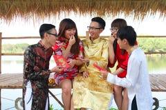 Wietnamczyk ao Dai Obraz Royalty Free