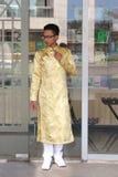 Wietnamczyk ao Dai Zdjęcia Royalty Free