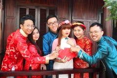 Wietnamczyk ao Dai Zdjęcie Royalty Free
