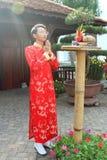 Wietnamczyk ao Dai Zdjęcia Stock