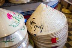 Wietnamscy conical kapelusze obraz royalty free