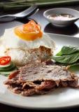 Wietnamscy wieprzowiny kotlecika ryż Zdjęcia Royalty Free