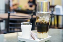 Wietnamska kapinos kawa z mlekiem fotografia royalty free