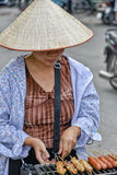 Wietnamska sprzedaży kobieta w Hanoi Obraz Stock