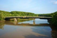 Wietnamska wioska, melaleuca las, Może Gio most Zdjęcie Royalty Free