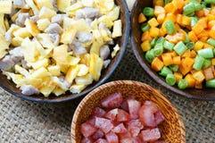 Wietnamski jedzenie, smażący ryż, Azjatycki łasowanie Zdjęcie Stock