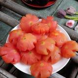 Wietnamski jedzenie, Tet, pomidorowy dżem, słodki łasowanie Fotografia Stock