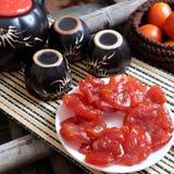 Wietnamski jedzenie, Tet, pomidorowy dżem, Wietnam tradycyjny Fotografia Royalty Free