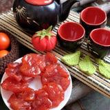 Wietnamski jedzenie, Tet, pomidorowy dżem, Wietnam tradycyjny Zdjęcie Royalty Free