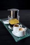 Wietnamski kawowy set Zdjęcia Royalty Free