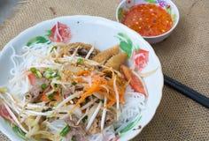 Wietnamski kluski z wieprzowiną i warzywem zdjęcie royalty free