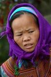 Wietnamski kobieta portret, Sa Pa zdjęcie stock