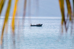 Wietnamski rybak w łodzi Obraz Royalty Free