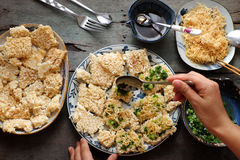 Wietnamski uliczny jedzenie, com chay cha bong Fotografia Royalty Free