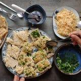 Wietnamski uliczny jedzenie, com chay cha bong Zdjęcia Stock