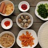 Wietnamski uliczny jedzenie, piec podpasanie tort zdjęcia stock