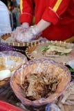 Wietnamski uliczny jedzenie, ryżowego papieru rolki Fotografia Stock