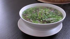 Wietnamski zupny Pho Bo z chili pieprzem zbiory