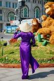 Wietnamskie kobiety w tradycyjnej Ao Dai sukni Zdjęcie Stock