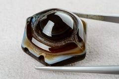Świetny agata koralik Zdjęcia Royalty Free
